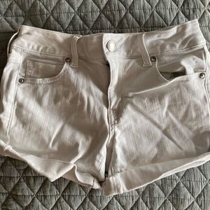 White Denim American Eagle Shorts